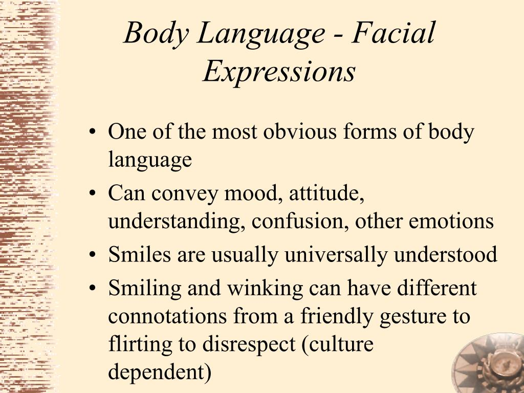 Body Language - Facial Expressions