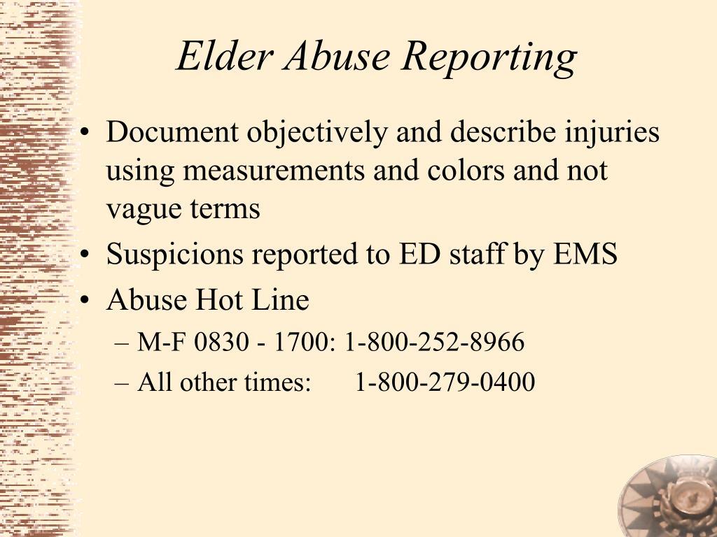 Elder Abuse Reporting