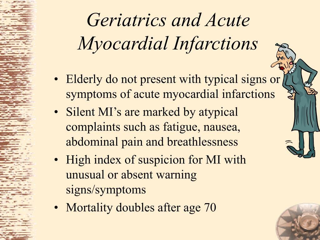 Geriatrics and Acute Myocardial Infarctions