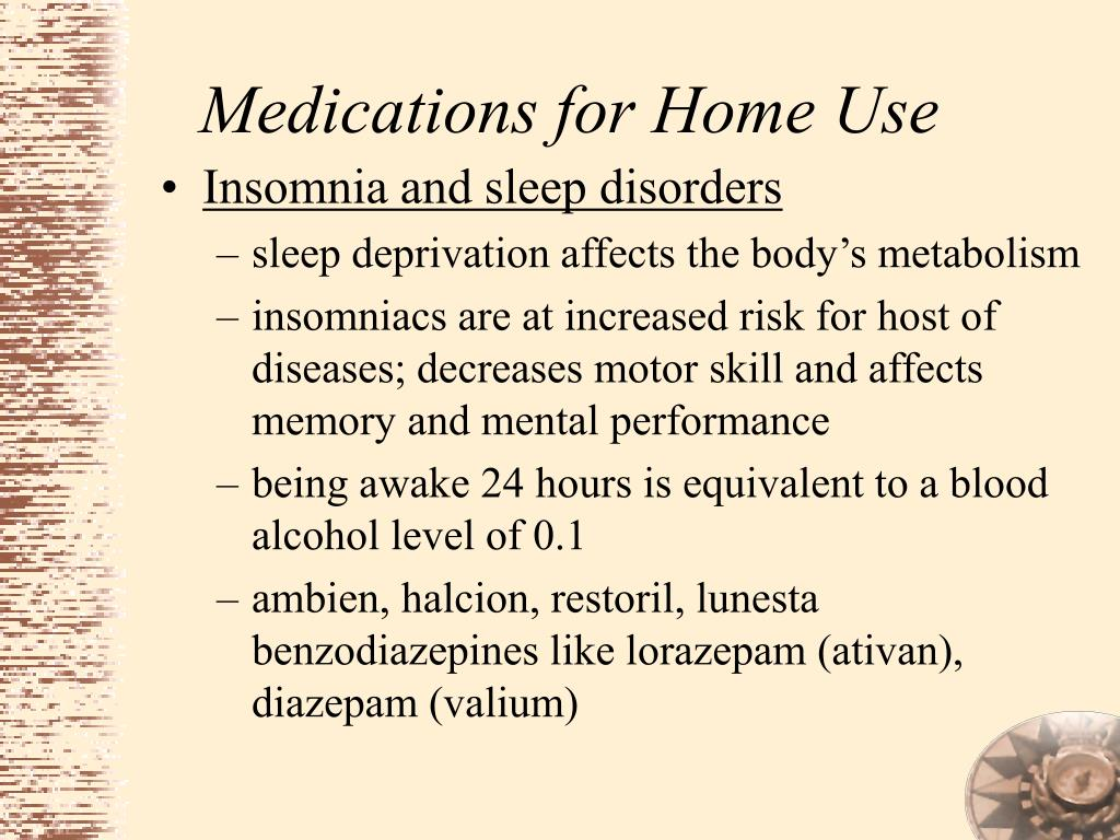 Medications for Home Use