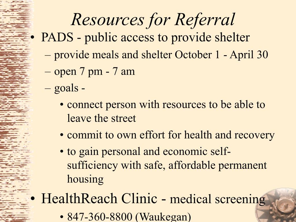 Resources for Referral