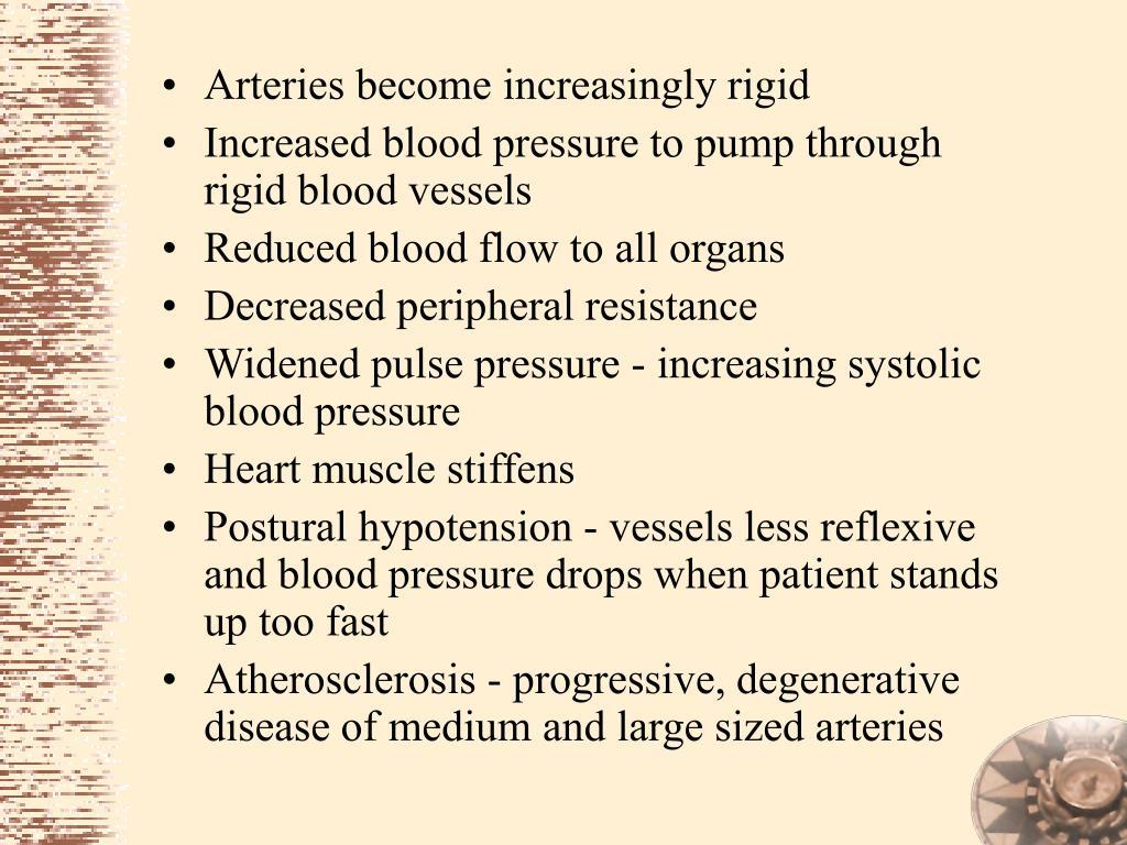 Arteries become increasingly rigid