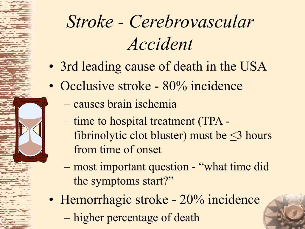 Stroke - Cerebrovascular Accident