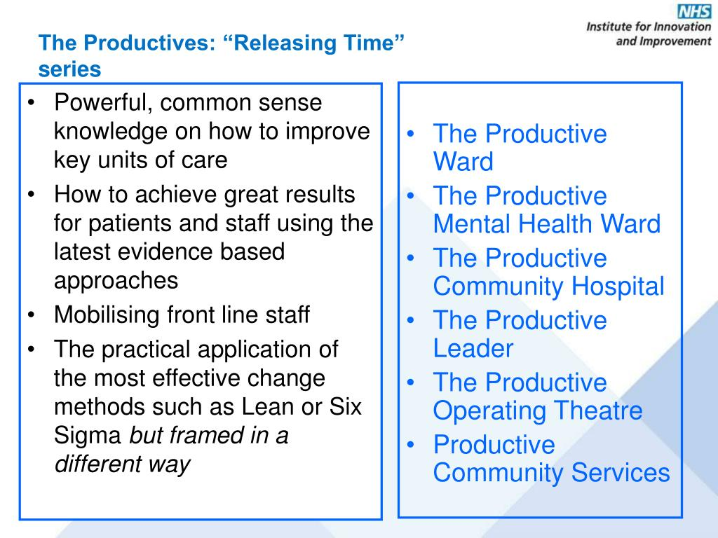 """The Productives: """"Releasing Time"""" series"""