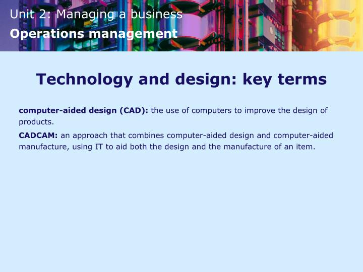 Technology and design: key terms