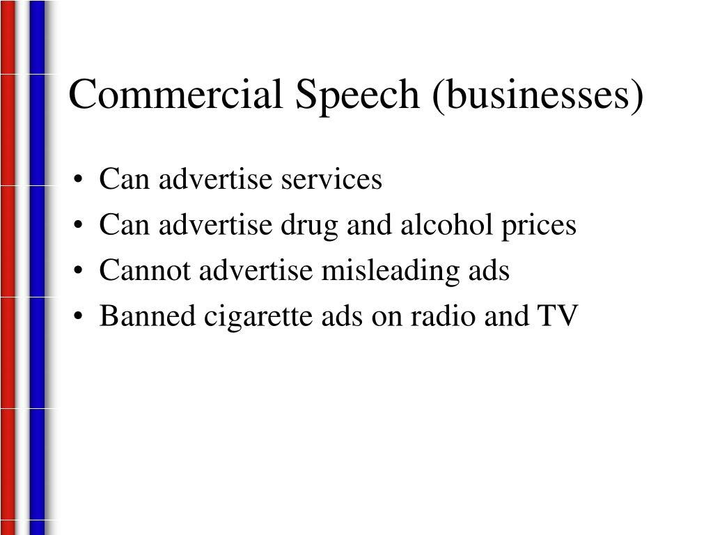 Commercial Speech (businesses)