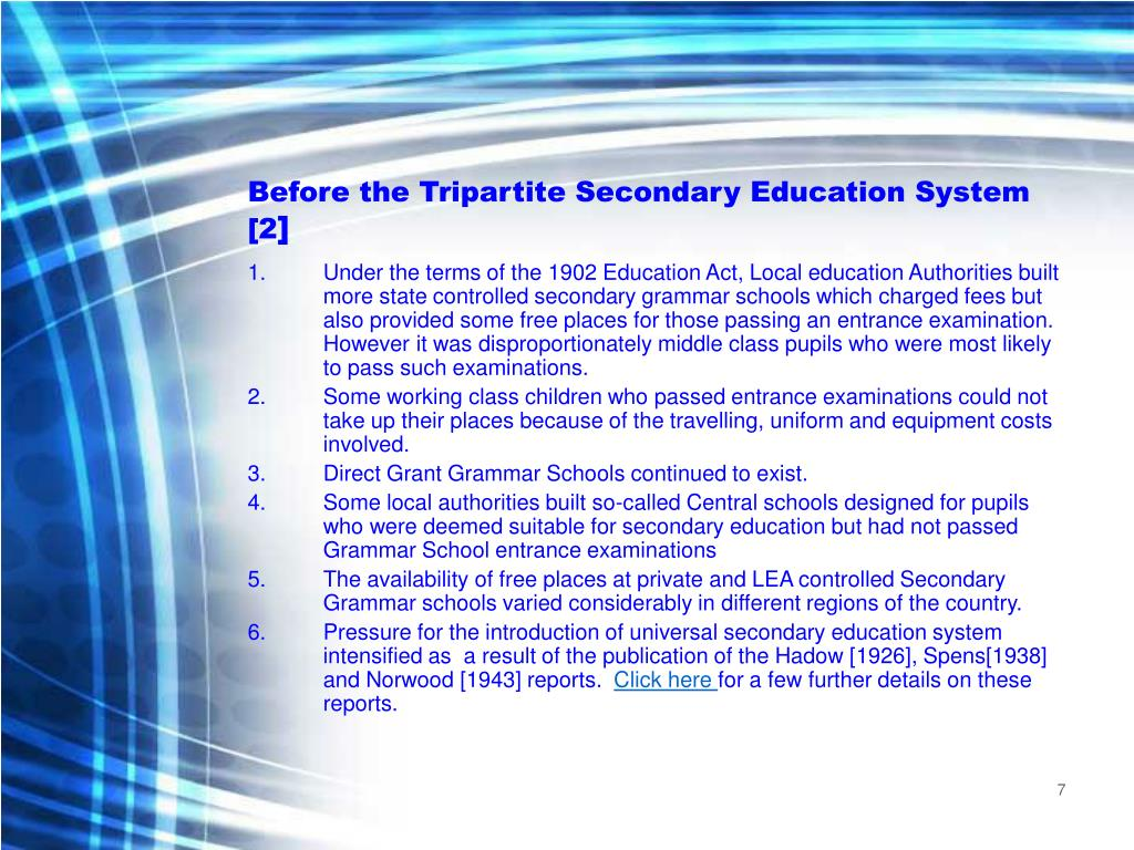 Before the Tripartite Secondary Education System [2