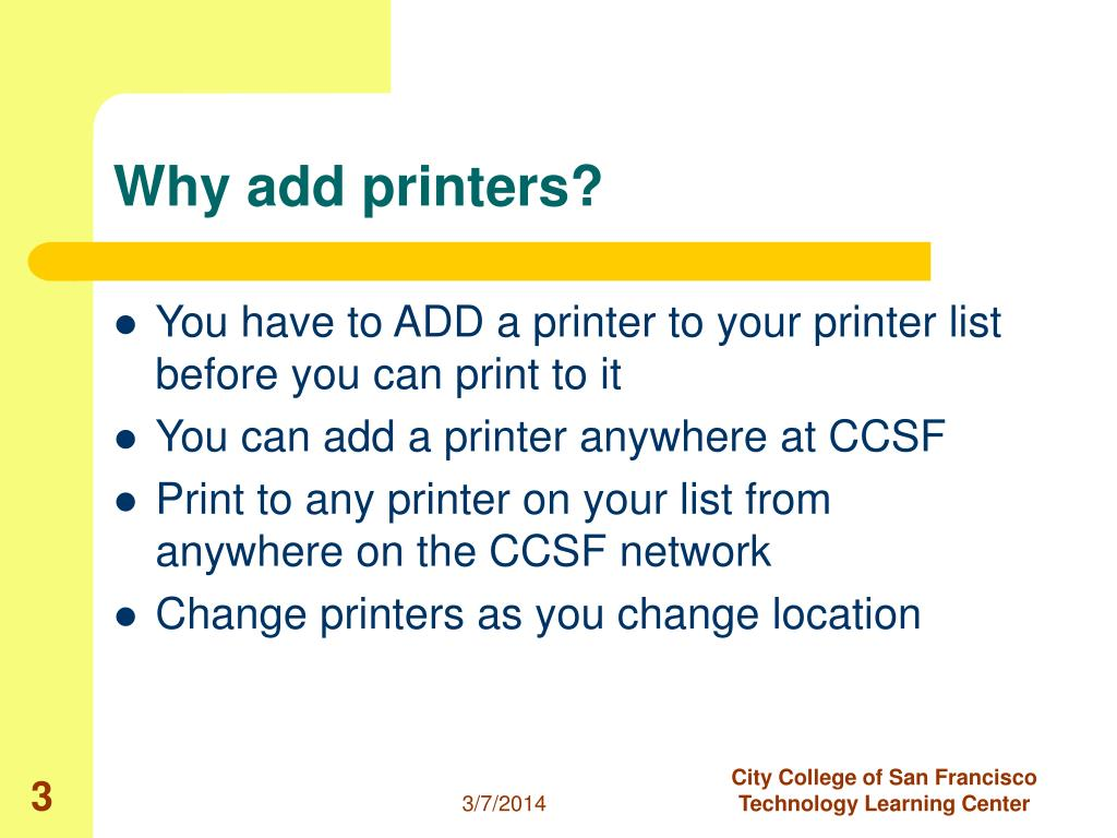 Why add printers?
