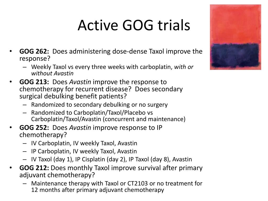 Active GOG trials