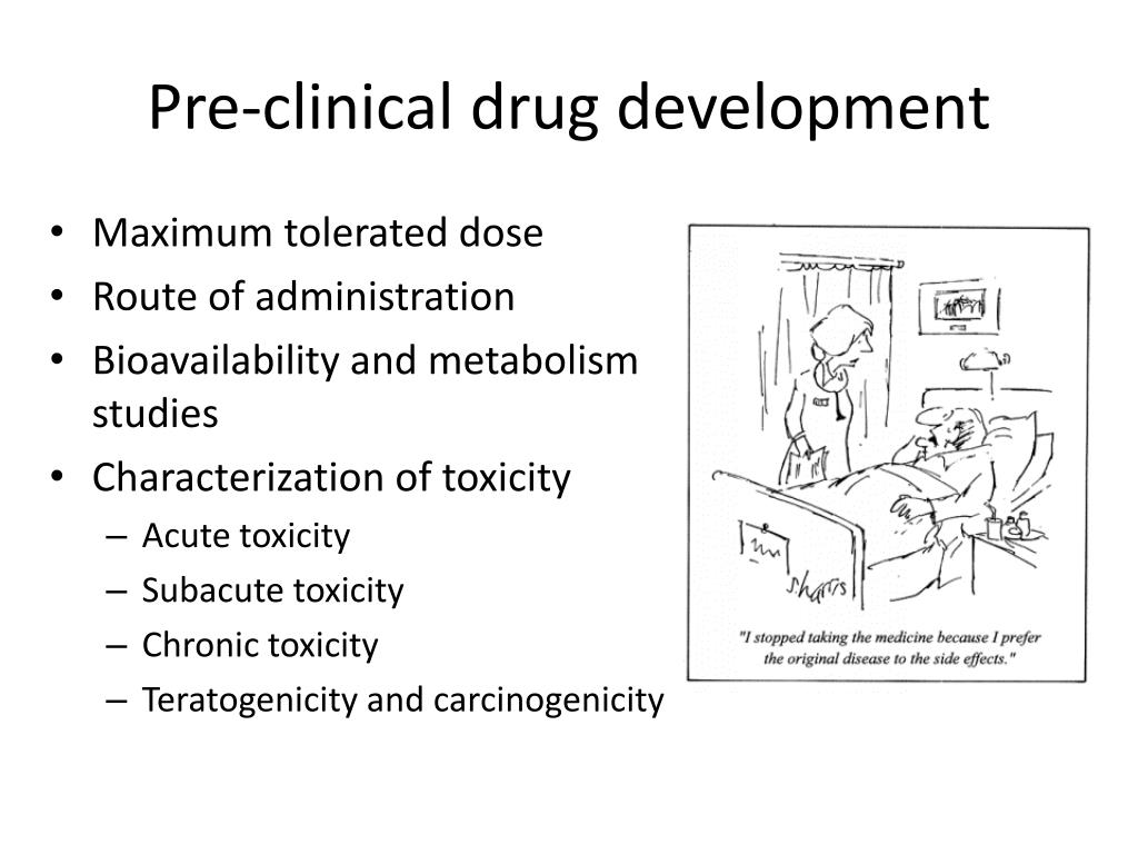 Pre-clinical drug development