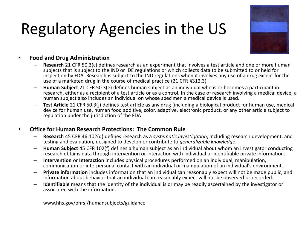 Regulatory Agencies in the US