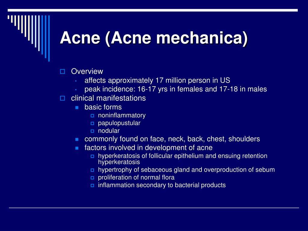 Acne (Acne mechanica)