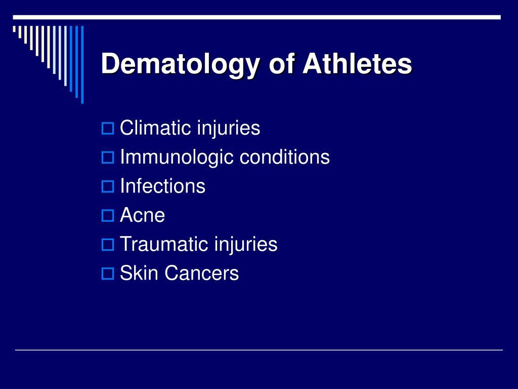 Dematology of Athletes