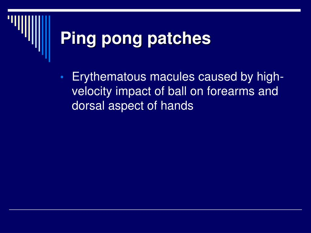 Ping pong patches