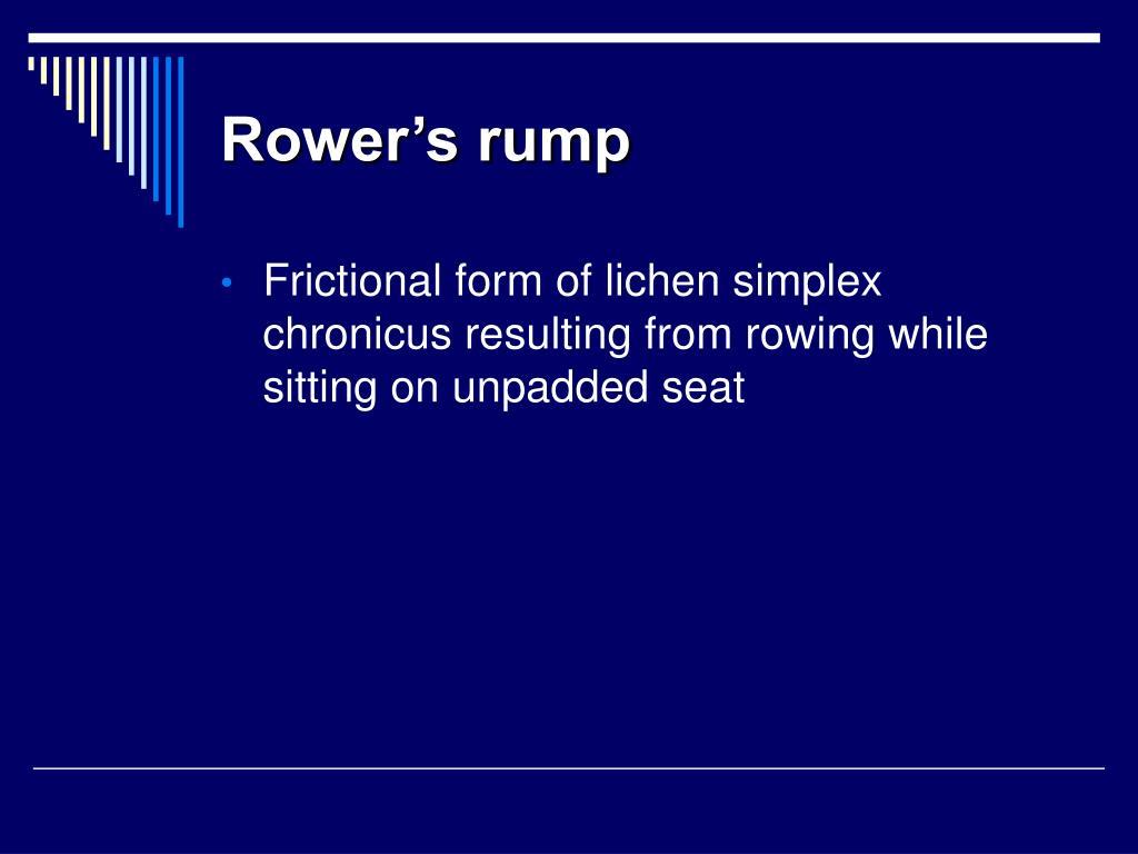 Rower's rump