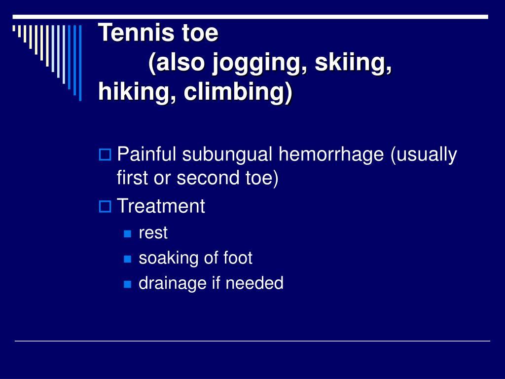 Tennis toe