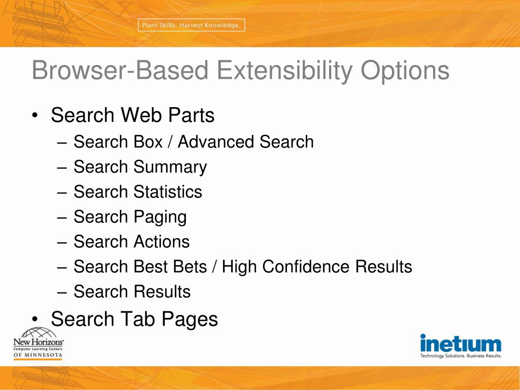 Browser-Based Extensibility Options