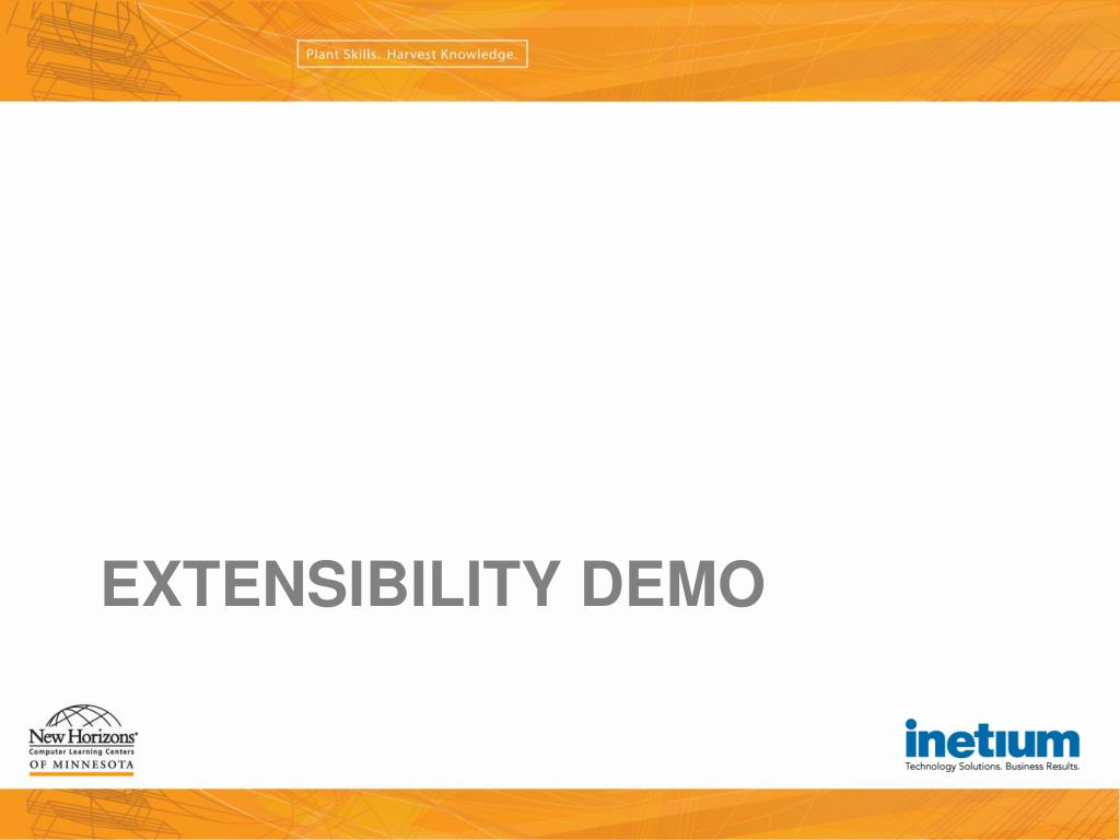 Extensibility Demo