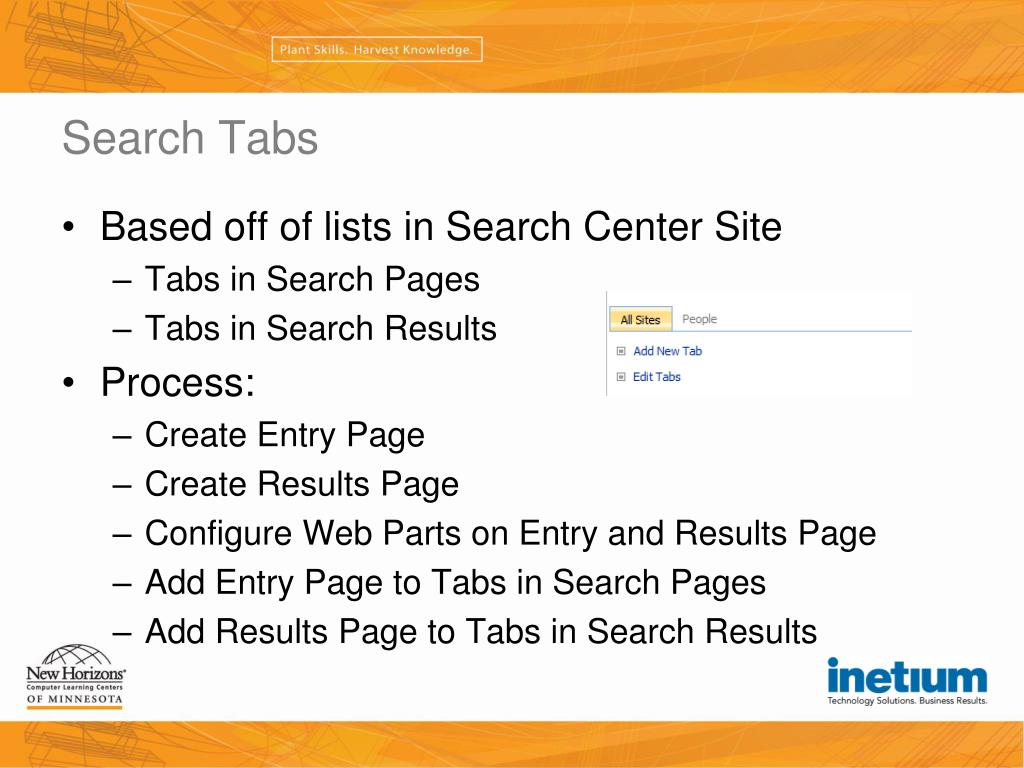 Search Tabs