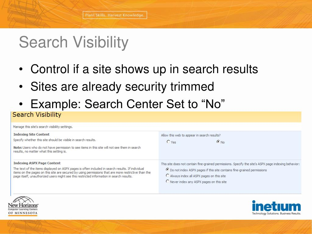 Search Visibility