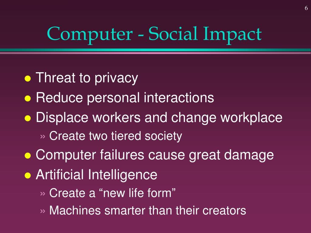 Computer - Social Impact
