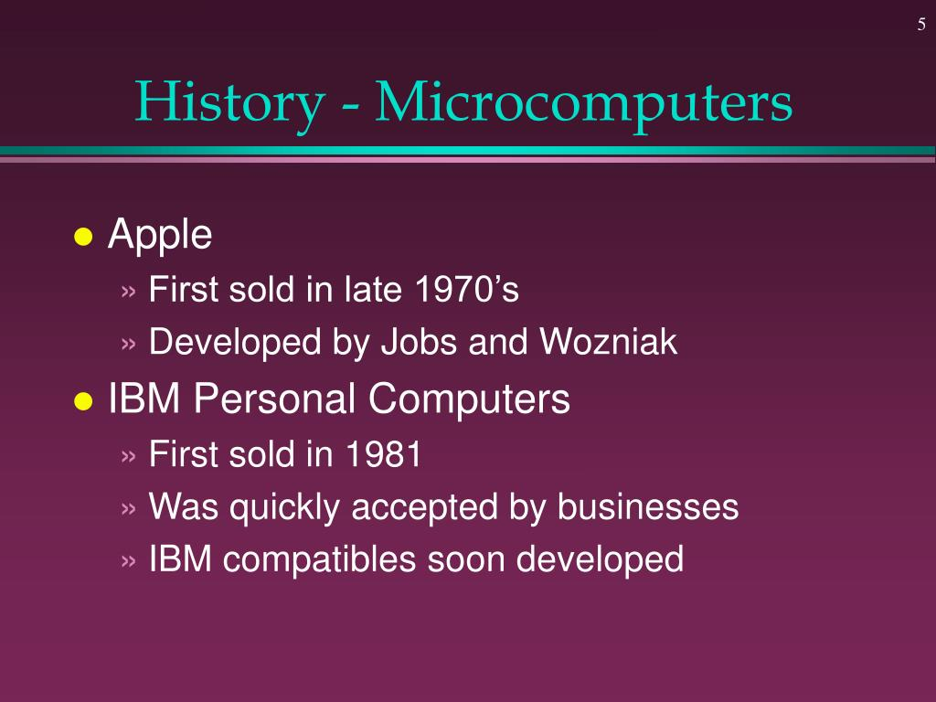 History - Microcomputers