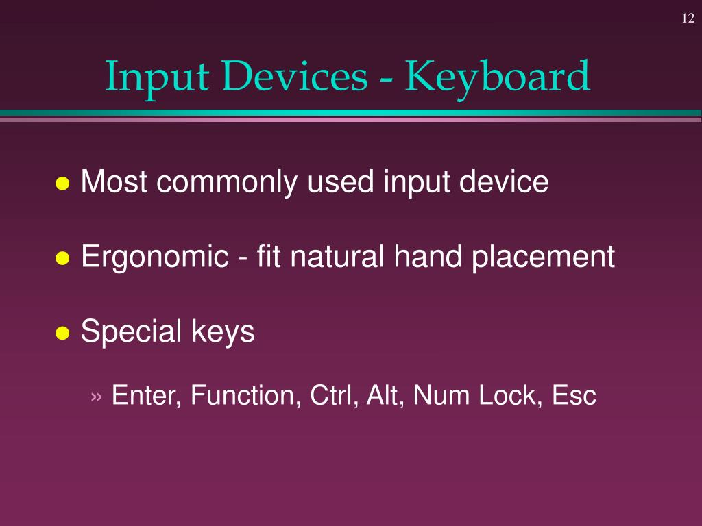 Input Devices - Keyboard