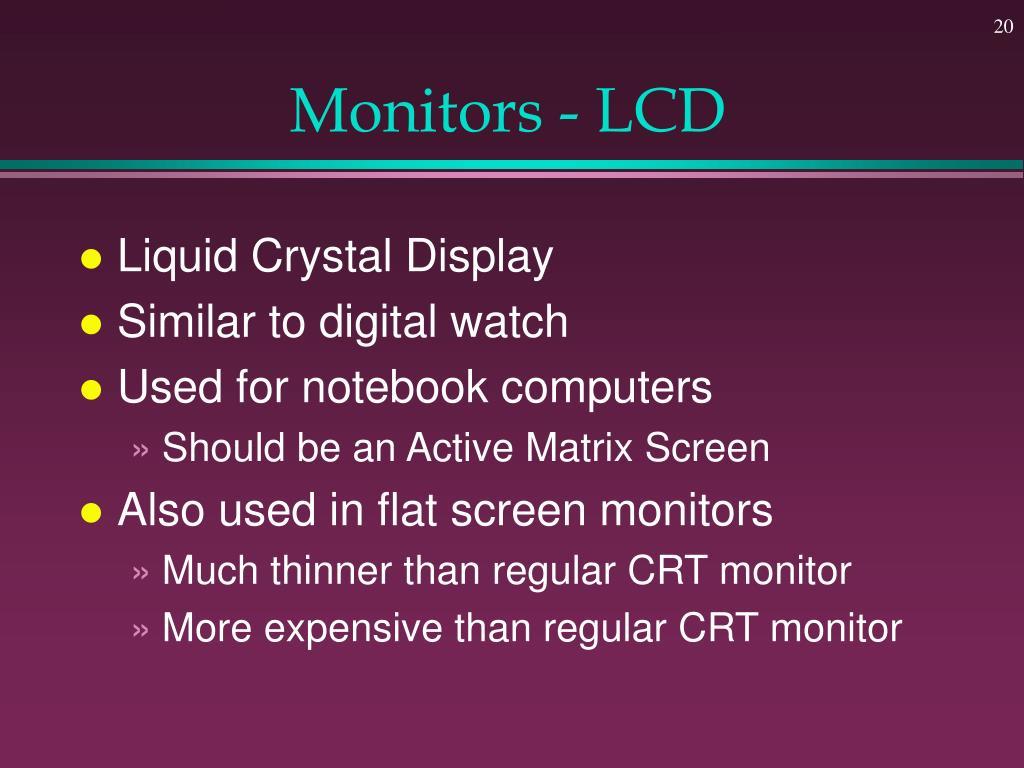 Monitors - LCD