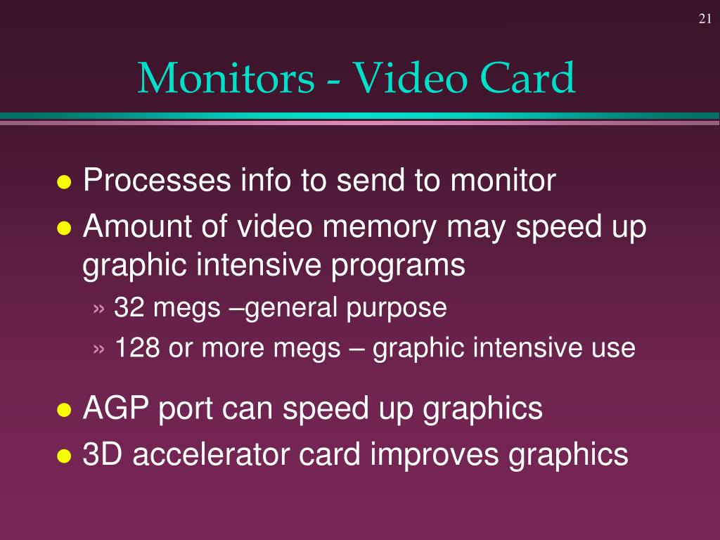 Monitors - Video Card