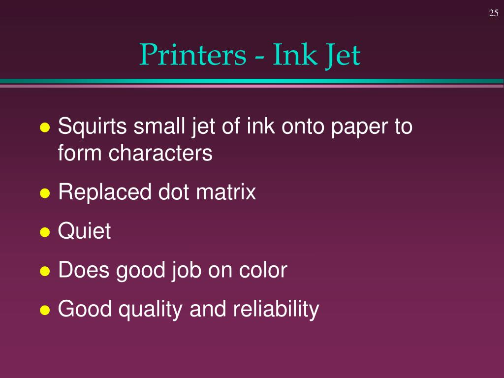 Printers - Ink Jet
