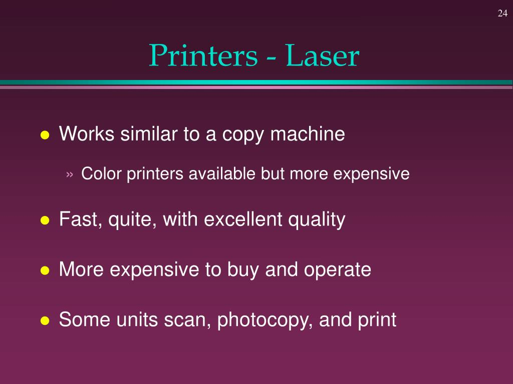 Printers - Laser