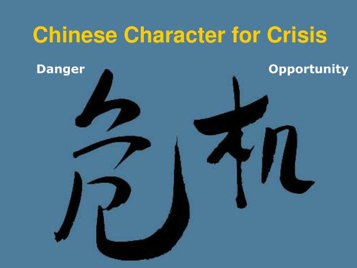 Chinese Character for Crisis