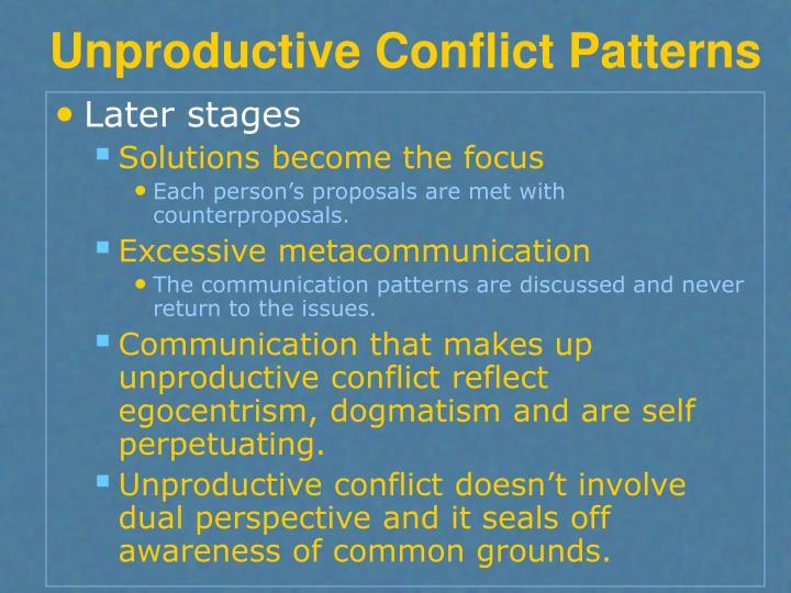Unproductive Conflict Patterns