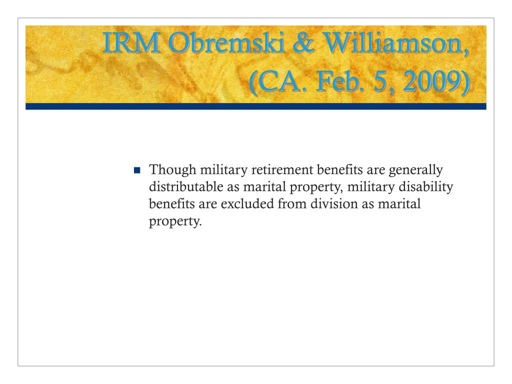 IRM Obremski & Williamson,