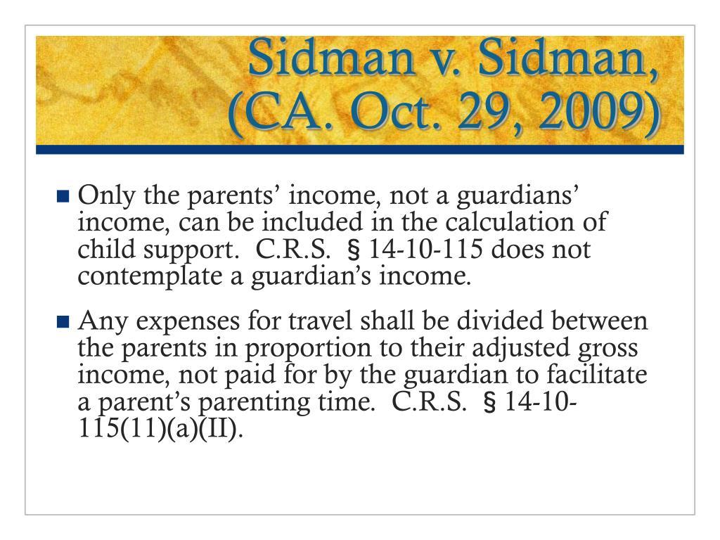 Sidman v. Sidman,