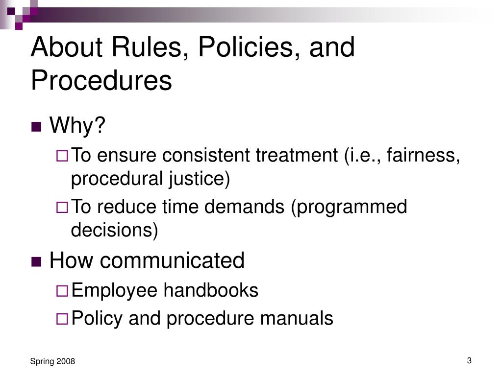 About Rules, Policies, and Procedures