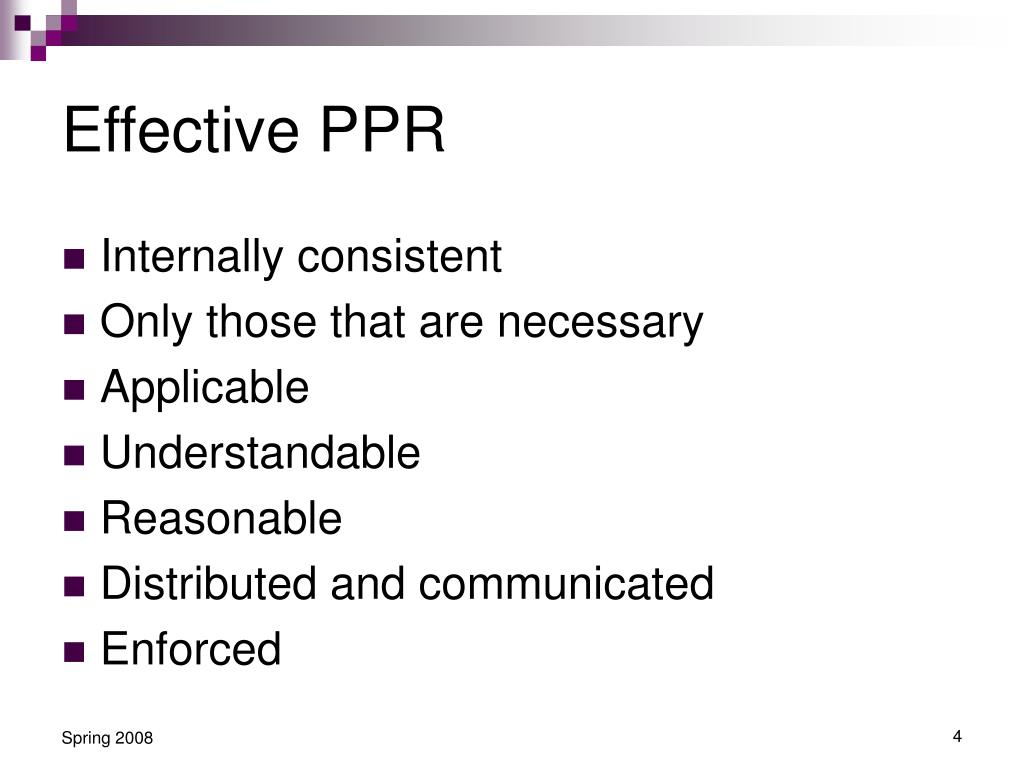 Effective PPR