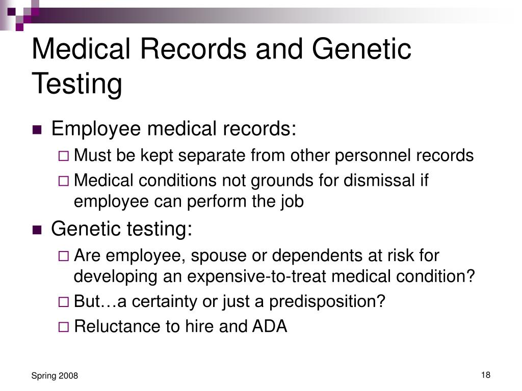 Medical Records and Genetic Testing