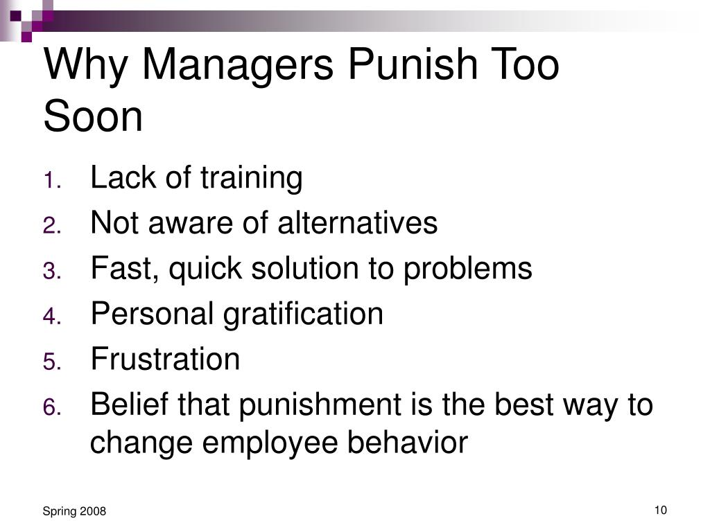 Why Managers Punish Too Soon