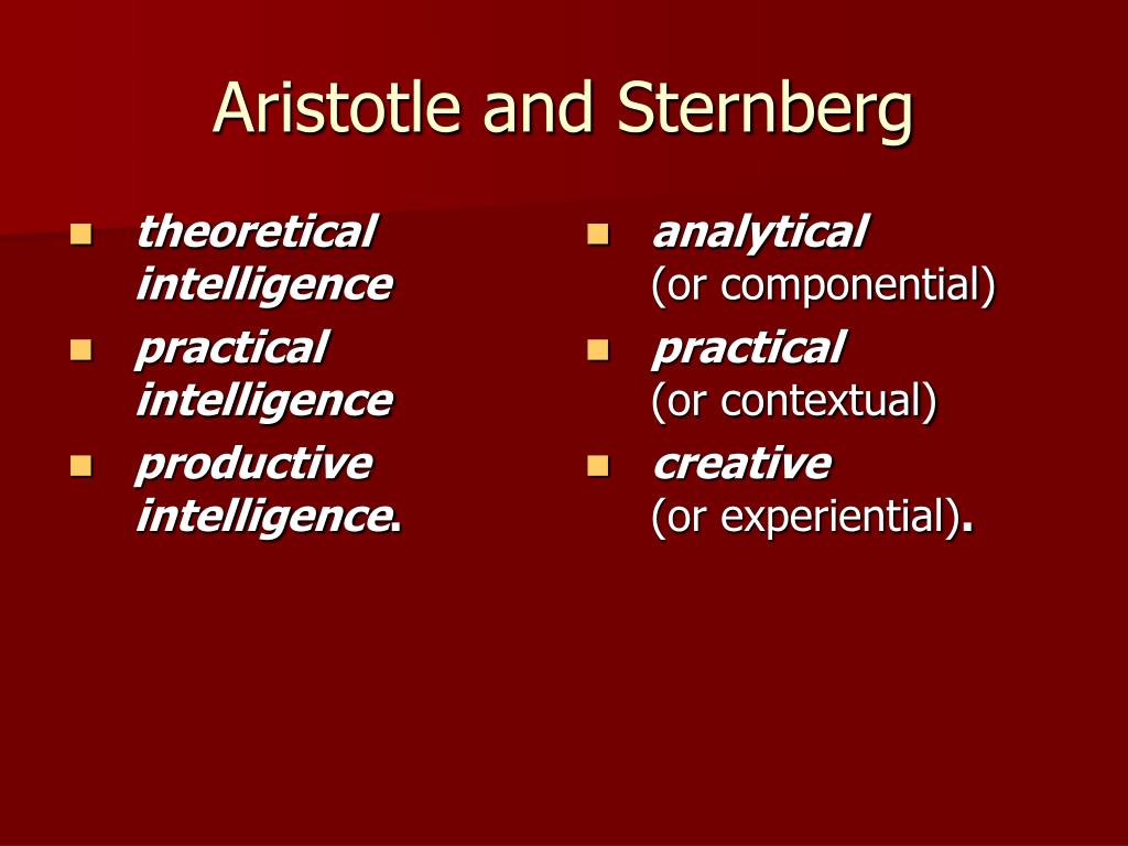 theoretical intelligence