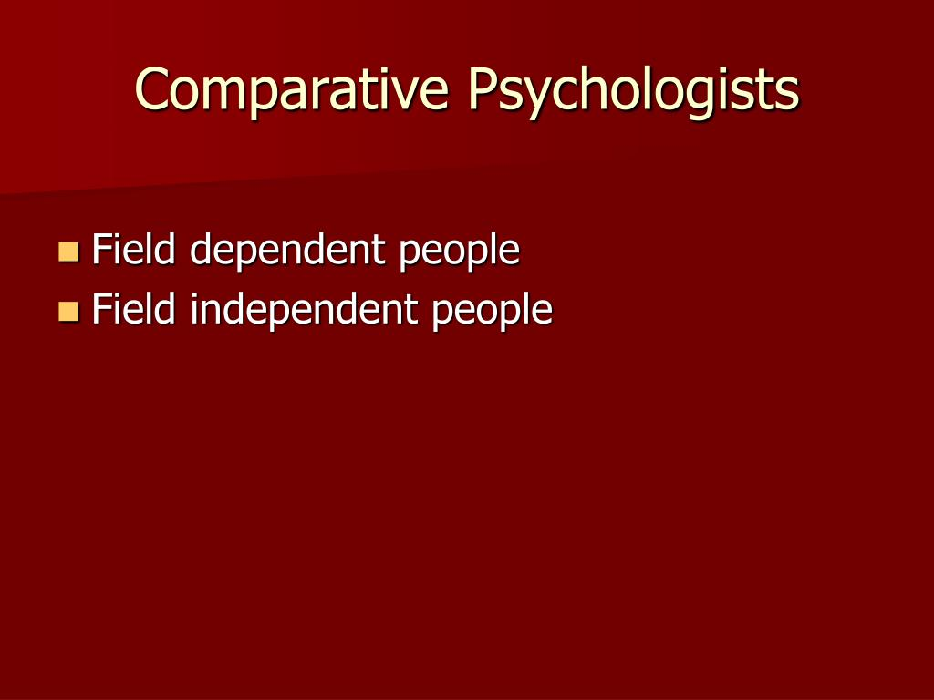 Comparative Psychologists