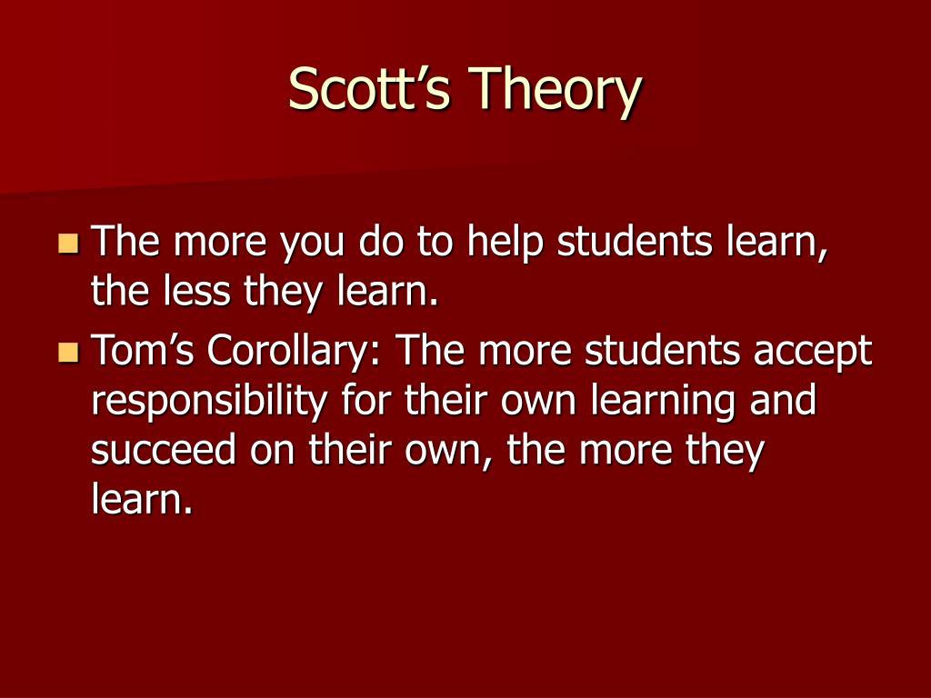 Scott's Theory