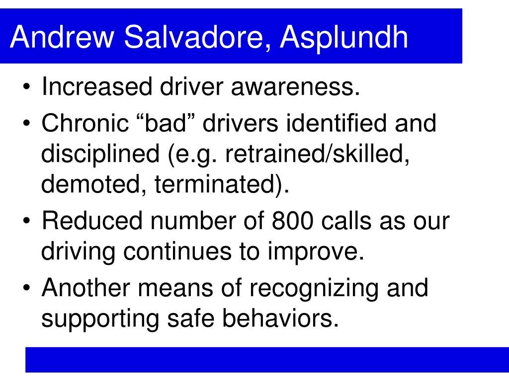 Andrew Salvadore, Asplundh