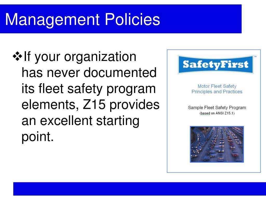 Management Policies