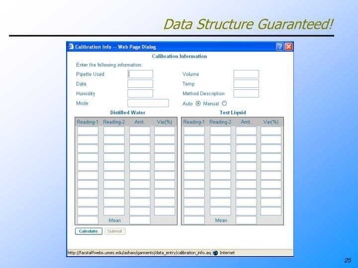 Data Structure Guaranteed!