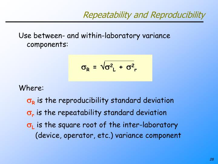 Repeatability and Reproducibility