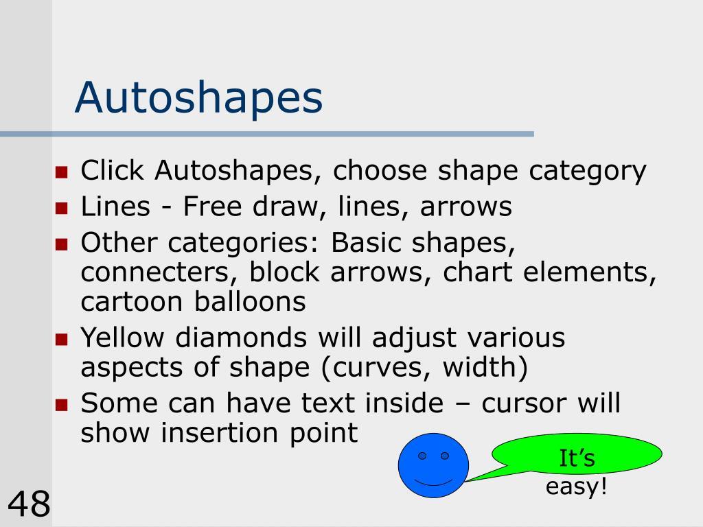 Autoshapes