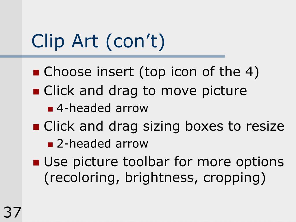 Clip Art (con't)