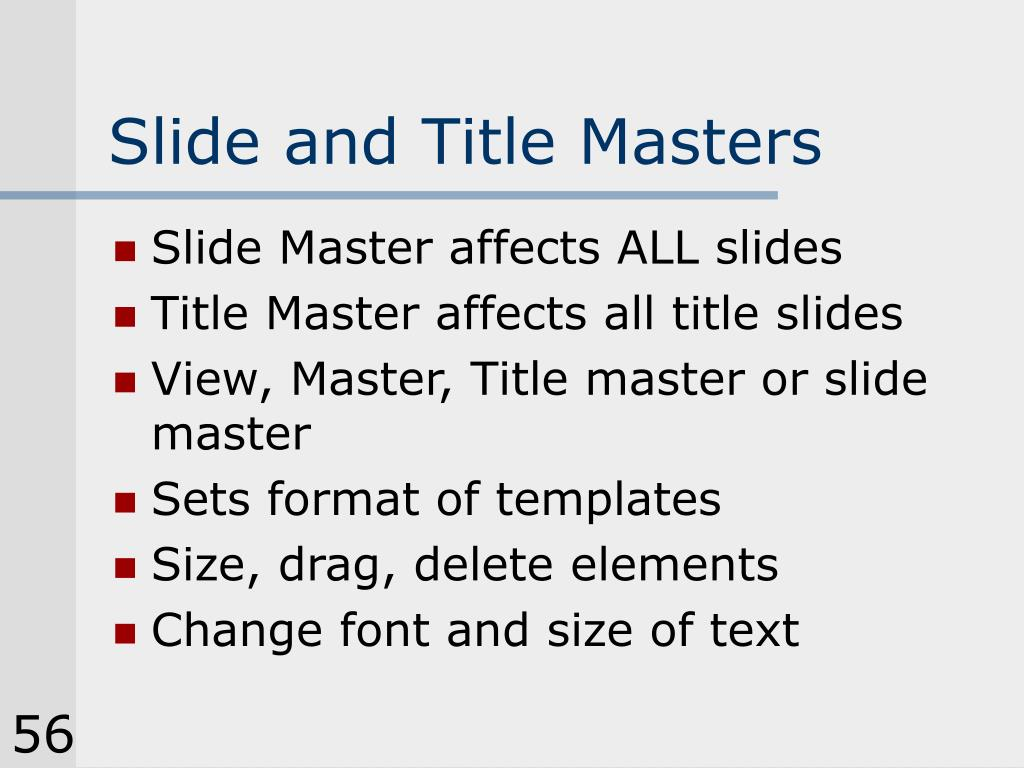 Slide and Title Masters