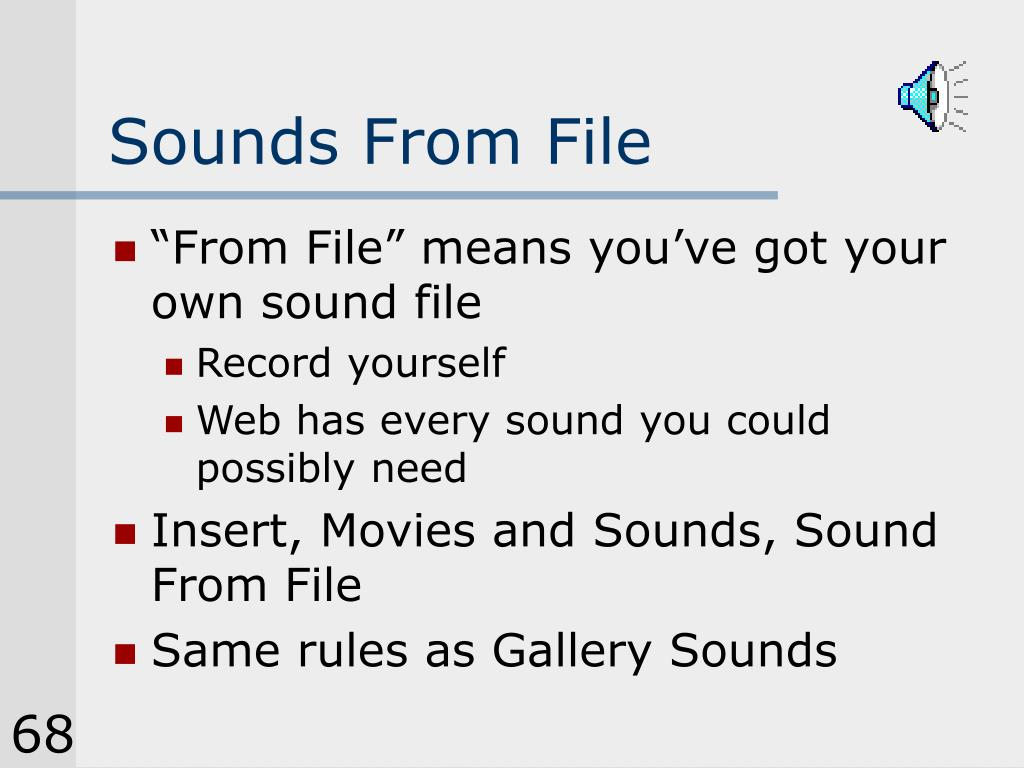 Sounds From File